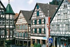 Half-timbered houses in Schiltach in the Black Forest of Germany.