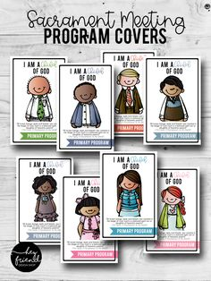 2018 Primary Program COLOR Sacrament Meeting Covers. Primary Program, Primary Songs, Primary Singing Time, Lds Primary, Kids Church, Over The Moon, Programming, Presentation, Printables