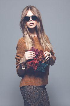 editorial de moda tendencias otoño-invierno 2012-13: gafas de sol de Bottega Veneta