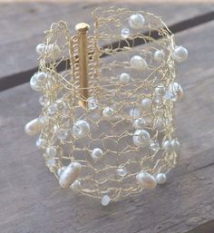 Large Wedding Bridal Gold Glam Cuff Simple Gold Cuff Bracelet Sexy Metallic Wire Mesh Gold Wire Hand Knit Lace Bracelet Minimal Chic Jewelry by imwyred on Etsy https://www.etsy.com/listing/234404606/large-wedding-bridal-gold-glam-cuff