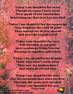 Even as we grieve there is much to be thankful for - A Poem