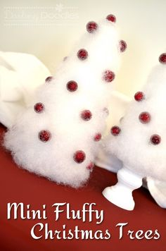 How to make mini fluffy Christmas trees...these are cute!