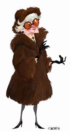 Oscars In Memoriam: ET & Tumblr remember Elaine Stritch through fan art. Art by chuanong.