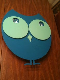 owl clock LOL does a nursery need a clock, yes if its this cool