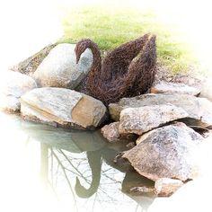The beauty.  #birchtwig #koivurisu  #björkris #risutyö  #risulintu  #bird  #lintu #fågel  #fogel  #joutsen #svan  #svane #water #mirror #peilikuva #kevät #spring #kivi #stones #allhandmadebyme #naturecraft #beautiful #kaunis #luonnonmateriaali