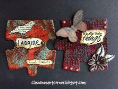 Claudine's Art Corner: Altered Puzzle Week 4