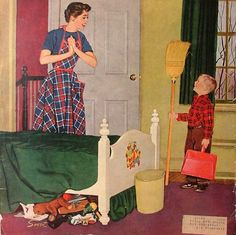 Mom, I Cleaned My Room-Dick Sargent (1911 – 1978, American)