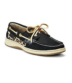 Vivi's go-to shoe, she's so cute! Sperry TopSider Bluefish 2Eye Boat Shoes #Dillards