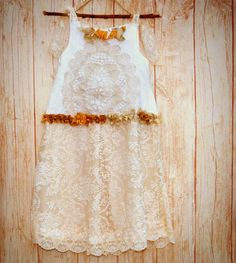 Custom rustic Gatsby inspired flapper dress in by MaidintheForest  #flower girl dress  #woodland wedding #girls lace dress  #fairy costume  #fairy dress #Maid in the Forest on Etsy #flapper dress #the 1920s flapper dresses