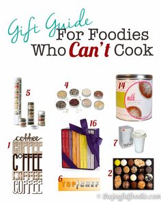 Know someone who loves great food but doesn't know their way around the kitchen? Give them something more creative than a gift card! Gift Guide for Foodies Who Can't Cook