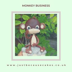 Cake toppers - kid's safari birthday cake Safari Birthday Cakes, Monkey Business, Yummy Cakes, How To Make Cake, Cake Toppers, Kids, Crafts, Young Children, Boys