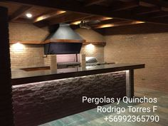 PERGOLAS Y QUINCHOS Backyard Kitchen, Outdoor Kitchen Design, Backyard Patio, Barbacoa, Outdoor Living, Bbq, Blessed Mother, Lighting, Cases