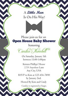 """Motocross Baby Shower Open House Invitation Custom 5""""x7"""" Invite"""
