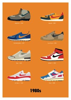 Designer Creates Posters Featuring Iconic Nike Footwear, From The 1970s-2000s - DesignTAXI.com