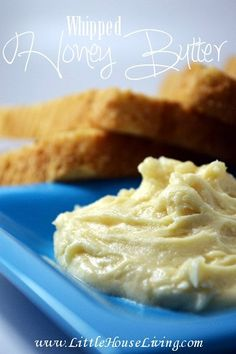 How to make your own delicious Whipped Honey Butter Spread! Perfect for homemade bread and biscuits!