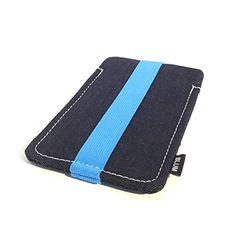 """Blum - Jeans Funda, tela de vaquero azul de tamaño """"L"""" - adecuada para el Samsung Galaxy S7 - http://complementoideal.com/producto/tienda-socios/blum-jeans-funda-tela-de-vaquero-azul-de-tamao-l-adecuada-para-el-samsung-galaxy-s7-s6-s6-edge-s5-s5-neo-a5-note-3-neo-con-un-lazo-de-color-azul/"""