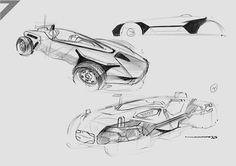 Lotus 7 Sketch by Naman Mathur