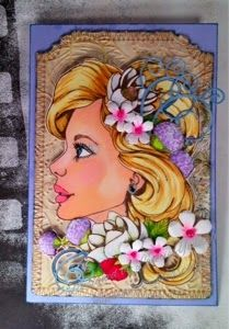 The Rogue Stamper Isn't She Lovely? Prima Bloom Girl Stamps and Memory Box dies.