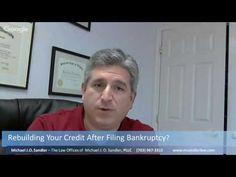 Rebuilding Credit After Filing Bankruptcy