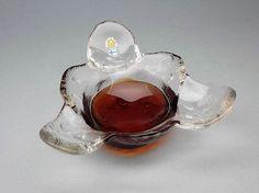 Pertti Santalahti glass bowl / serving dish from Kivi set by Humppila of Finland Glasses Shop, Bowl Designs, Glass Design, Serving Dishes, Finland, Gemstone Rings, Etsy, Vintage, Jewelry