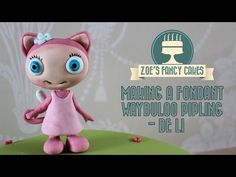 Making a fondant waybuloo pipling De Li (pink) How To Tutorial Zoes Fancy Cakes - YouTube