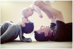 family baby photo idea