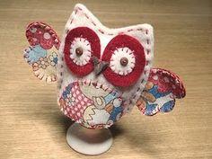 Mini patchwork owl egg cozy... Adorarable!