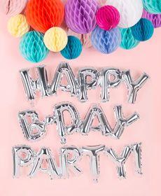 decoration lampion et ballon mylar lettre chiffre anniversaire