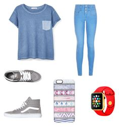 """Untitled #1"" by michelle-00-berry ❤ liked on Polyvore featuring MANGO, Vans and Casetify"