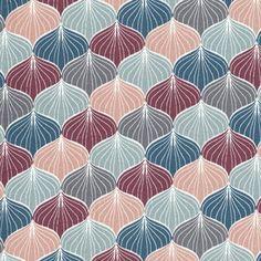 Toile cirée motif japonais imprimé Ginko pour confection nappes : Décoration de table par mercerie-de-rosalie