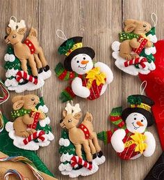 Just released, Bucilla felt ornament set entitled Forest Friends. Matches newly released stocking kit with the same title. Available today at MerryStockings. Felt Christmas Decorations, Felt Christmas Ornaments, Christmas Fun, Christmas Stocking Kits, Handmade Christmas, Christmas Stockings, Christmas Projects, Felt Crafts, Christmas Crafts