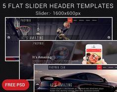 5 Flat Slider Header Templates