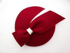 Roter Fascinator Hut - Hochzeit Hut, Damen Hut, Gelegenheit Hat, Mini Hut, Filz Filz Knochenvogel Hut, Hut, Wein, Burgund, Tea Party, Rassen