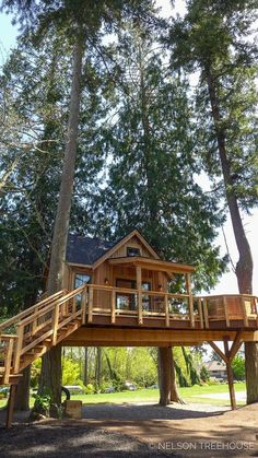Hot tub rumpus room for russ our go-to guy for forklifts Beautiful Tree Houses, Cool Tree Houses, Tree House Designs, Tiny House Design, Tree House Plans, Tree House Homes, Cabin In The Woods, Tiny House Cabin, Log Homes