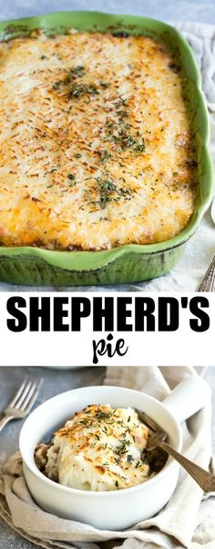An easy recipe for Shepherd's Pie. Dive into this British classic made from ground meat (beef or lamb) and vegetables in a rich gravy topped with mashed potatoes.