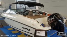 Flipper 640 DC  #interboot 2016 #flipperboats  ☺ Mehr als 60 Neu und Gebraucht Motorboote auf Lager
