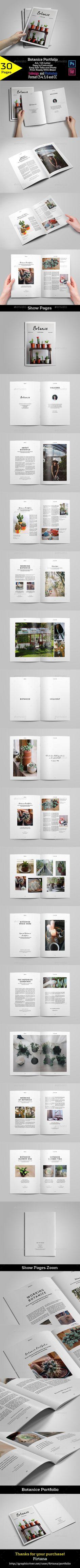 Botanice Portfolio — Photoshop PSD #design #white • Available here → https://graphicriver.net/item/botanice-portfolio/17776594?ref=pxcr