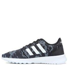 e445ebda847 Adidas Women s Neo Cloudfoam QT Racer Sneakers (Black Print) - 11.0 M  Casual Sneakers