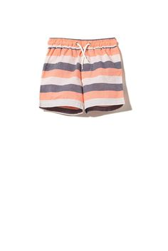 Fun and playful basic shorts with elastic waist and adjustable drawcord for easy adjustments. Featuring a back patch pocket and quick to dry material makes for the perfect Summer essential.
