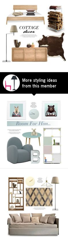 """""""Cottage Bedroom Decor"""" by lovethesign-eu on Polyvore featuring interior, interiors, interior design, home, home decor, interior decorating, AK47, Twentyfirst, Hawkins and bedroom"""