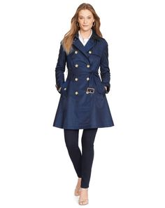 Double-Breasted Trench Coat - Lauren Outerwear - RalphLauren.com