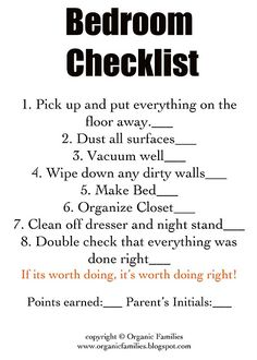 Chore cards with checklists for what needs to be done. great idea!