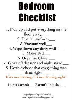 Cleanig Checklist
