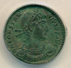 Roman Empire Constantius II (Emperor) AD 337-361 AE 23mm Thessalonica Mint AU55 ANACS