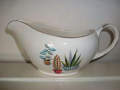 Unusual Alfred Meakin Sauce/Gravy Boat Cactus Design Gravy Boats, Alfred Meakin, Punch Bowls, Tea Service, Chocolate Pots, Cake Plates, Tea Pots, Cactus, Succulents