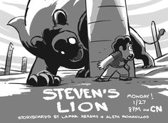 Storyboard Artist & Revisionist Aleth Romanillos STEVEN'S LION
