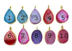 24 kt Gold Plated Druzy Pendants  1 piece of fine by finegemstone, $9.00