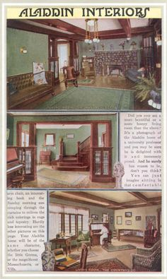 Interiors from Aladdin Homes catalog from 1916