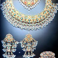 Begum Salimah Aga Khan Antique Jewellery Designs, Antique Jewelry, Jewelry Design, Pakistani Jewelry, Bollywood Jewelry, Indian Jewelry Sets, India Jewelry, Hyderabadi Jewelry, Bride Accessories