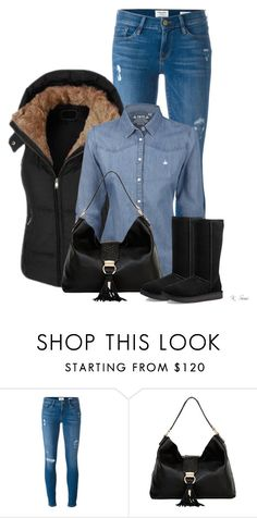 """""""Ugg Boots"""" by ksims-1 ❤ liked on Polyvore featuring Frame, LE3NO, Foley + Corinna and UGG"""